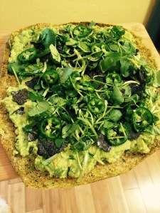 Green Alkalizing Pizza